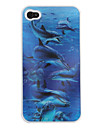 3D Effect Whale Pattern  Case for iPhone 4 and 4S