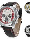 남성의 세련된 스포츠 PU 아날로그 석영 손목 시계 (여러 색)