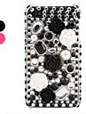 Rhinestone Floret Pattern Case for iPhone 4 and 4S (Assorted Colors)