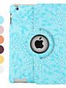 fleur cas de modèle de 360 degrés de rotation en cuir PU avec support pour iPad 2/3/4 (couleurs assorties)
