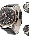 Men's Casual Style PU Analog Quartz Wrist Watch (Assorted Colors)