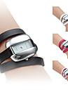 여성의 PU 가죽 밴드 스타일의 아날로그 석영 팔찌 시계 (여러 색)
