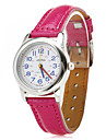 Women's Blue Numbers Small Style PU Analog Quartz Wrist Watch (Assorted Colors)