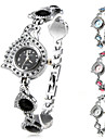 Mulheres Relógio de Moda Bracele Relógio Relógio de Pulso Quartzo Banda Elegantes Preta Branco Azul Rosa Branco Preto Azul Rosa claro
