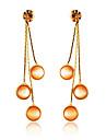 Cherry Pattern Opals Pendant Earring (Golden)
