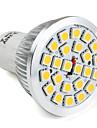 gu10 24-5050 SMD 3.5W 300lm 2800-3300K теплый белый свет Светодиодные лампы месте (110-220V)