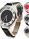 femmes style raffiné bracelet pu analogique montre-bracelet à quartz (couleurs assorties)