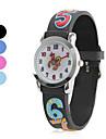 silicone crianças analógico relógio de pulso de quartzo (multi-colorido)