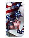 нам флаг и звезда картины жесткий футляр для iphone 4 и 4S (многоцветные)