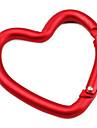 Карабин в форме сердечка (красный)