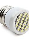 E26/E27 1W 24 SMD 3528 80 LM Естественный белый Точечное LED освещение V