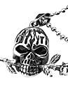 eruner®titanium стали череп с розой Стиль ожерелье