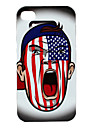 Novelty US Flag Pattern Hard Case for iPhone 4 and 4S (Multi-Color)