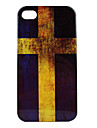 Retro Style Sweden Flag Pattern Hard Case for iPhone 4 and 4S