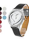 женская мода в форме сердца PU Группа Кварцевые наручные часы (разные цвета)