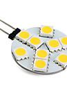Светодиодные лампы, теплый белый свет, G4 1.3W 9x5050 SMD 100LM (12)