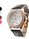 Relógio de Mulher de Pele Analógico (Várias cores)