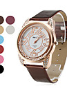 Women's Roll Ball Style PU Leather Analog Quartz Wrist Watch with Golden Watchcase (Assorted Colors)