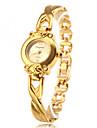 아가씨들 패션 시계 팔찌 시계 석영 합금 밴드 우아한 골드
