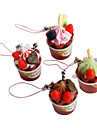 Cute Ice Cream Shaped Keychain (Random Colors)