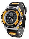 남여 고무 아날로그 - 디지털 멀티 운동 손목 시계 (블랙)