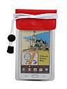 PVC transparent pochette étanche avec sangle pour iphone 4, 4s et Samsung i9220 (rouge)
