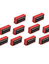 10 Pieces 8 Position DIP Switch 2.54mm Pitch 2 Row 16 Pin DIP Switch DIY