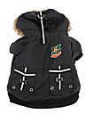Dog Coat Hoodie Black Dog Clothes Winter Spring/Fall Letter & Number Fashion
