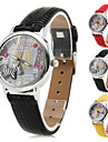 Women's Shopping Hour Design PU Analog Quartz Wrist Watch (Assorted Colors)