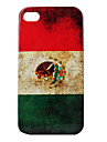 Vintage Style Flag of Mexico Pattern Hard Case for iPhone 4 and 4S