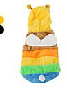 Собаки Костюмы / Толстовки / Инвентарь Желтый / Черный Одежда для собак Весна/осень Животный принт Косплей / Хэллоуин