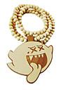 мультфильм призрак образец деревянного ожерелья
