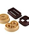 4pcs набор круглый квадратный формы формы печенья формы diy buscuit резец прессформы выпечки инструменты