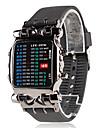 Мужские светодиодные аналоговые цифровые часы (черные)