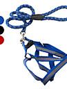 Cães Arreios Refletor Vermelho / Preto / Azul Téxtil