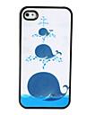 teste padrão bonito da baleia caso difícil polonês maçante para o iphone 4 e 4S
