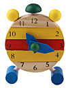Wooden Cartoon Clock Toy
