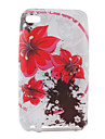 아이팟 터치 4 (멀티 컬러)의 꽃 패턴 tpu 케이스