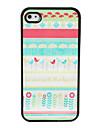 Etui Rigide Motif Chic pour iPhone 4/4S - Multicolore