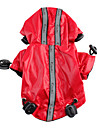 Dog Rain Coat Red / Black Dog Clothes Summer / Spring/Fall Solid Waterproof