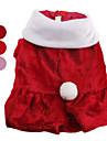 Cães Casacos Vermelho / Rosa Roupas para Cães Inverno Cor Única Fofo / Natal