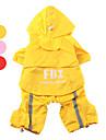 Chien Imperméable Rouge / Jaune / Incanardin Vêtements pour Chien Printemps/Automne Lettre et chiffre