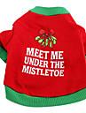 Chien T-shirt Rouge Vêtements pour Chien Printemps/Automne Lettre et chiffre Vacances / Noël