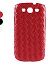 tricoter modèle étui de protection dur pour Samsung Galaxy i9300 s3 (couleurs assorties)