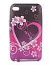 아이팟 터치 4 (멀티 컬러)에 대한 심장 꽃 패턴 tpu 케이스