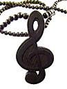 музыкальный символ модель деревянного ожерелья