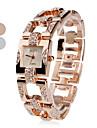 femmes montre-bracelet en acier analogique quartz (couleurs assorties)