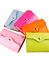 Candy Color PU Leather Card Case Bag (Random Color)