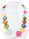 красочный ромб ожерелье каури для женщин (многоцветные)