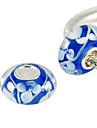 S925 perles en verre de Murano au chalumeau (bleu)